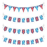 Set of uk bunting Stock Photo