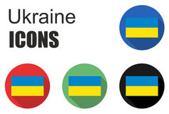 Set ukraine flat icons Stock Photos