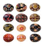 Set of Ukrainian Easter eggs Stock Images