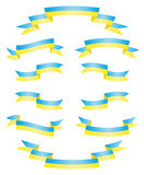 Set Ukrainian ribbons vector Stock Photography