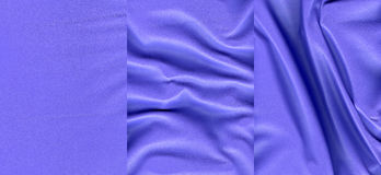 Set of ultramarine leather textures Royalty Free Stock Image
