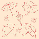 Set  umbrella Stock Images