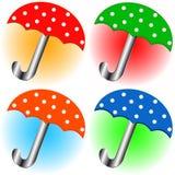 Set of umbrellas Stock Images