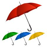 Set of umbrellas on white background Royalty Free Stock Image