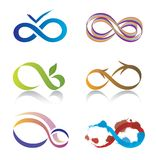 Set Unbegrenztheits-Symbol-Ikonen Lizenzfreies Stockbild