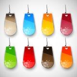 Set unbelegte Marken| Kennsätze der verschiedenen Farben Lizenzfreie Stockfotografie