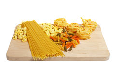Set of uncooked pasta Stock Images