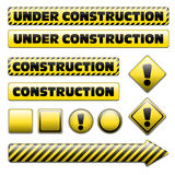 Set of under constuction signs Stock Images