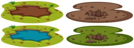 A Set of Underground Hole vector illustration