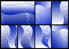 Set of Underwater backgrounds Stock Image
