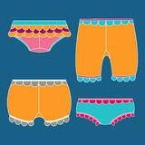A set of Underwear, lingerie, Briefs. Knickers Royalty Free Stock Images