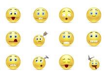 Set unhealthy funny smiles Stock Image