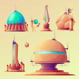 Unidentified space objects, UFO, space ships of alien stock illustration