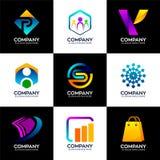 Set unikalni biznesowi logo i nowożytny luksus ilustracja wektor