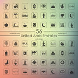 Set of United Arab Emirates icons Stock Photo