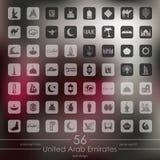 Set of United Arab Emirates icons Royalty Free Stock Images