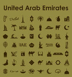 Set of United Arab Emirates simple icons Royalty Free Stock Images