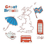 Set - United Kingdom Royalty Free Stock Photo