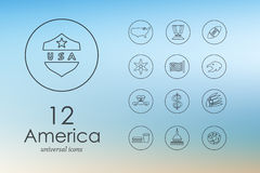 Set of United States icons Stock Photography