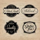 Set of universal bottle labels. Design set of universal bottle labels Royalty Free Stock Photography