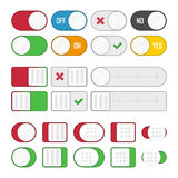 Set of universal buttons Stock Photos