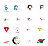 Set of universal company logo ideas, business icon Royalty Free Stock Images