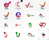 Set of universal company logo ideas, business icon Stock Image