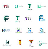 Set of universal company logo ideas, business icon Royalty Free Stock Photos