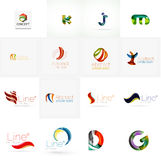 Set of universal company logo ideas, business icon Royalty Free Stock Image