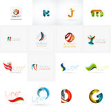 Set of universal company logo ideas, business icon Royalty Free Stock Photo