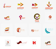 Set of universal company logo ideas, business icon Stock Images