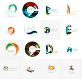 Set of universal company logo ideas, business icon Royalty Free Stock Photography
