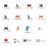 Set of universal company logo ideas, business icon Stock Photo