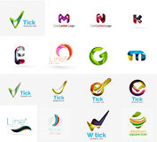 Set of universal company logo ideas, business icon Stock Photos