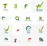 Set of universal company logo ideas, business icon Stock Photography