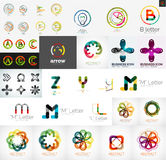 Set of universal company logos and design elements Stock Image