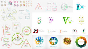 Set of universal company logos and design elements Royalty Free Stock Image