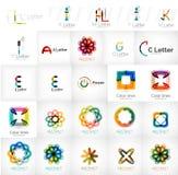 Set of universal company logos and design elements stock illustration