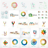Set of universal company logos and design elements Royalty Free Stock Photos