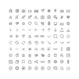 Set comunication icon for web and mobile, thin line vector illustration
