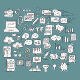 Set of Universal Doodle Icons. Variety of Topics. Stock Photography