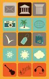 Set of universal icons. Universal business icons, flat design Stock Photography