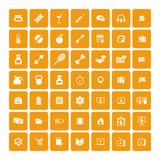 Set of 49 Universal Icons. Business, internet, web design. Royalty Free Stock Photos