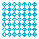 Set of 49 Universal Icons. Business, internet, web design. Royalty Free Stock Photo