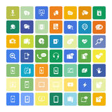 Set of 49 Universal Icons. Business, internet, web design. Royalty Free Stock Photography