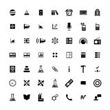 Set of 49 Universal Icons. Business, internet, web design. Stock Image