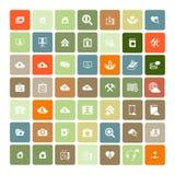 Set of 49 Universal Icons. Business, internet, web design. Set of 49 Universal Icons. Simple Flat Style. Business, internet, web design Royalty Free Stock Photo