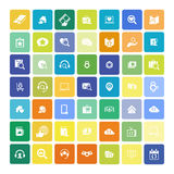 Set of 49 Universal Icons. Business, internet, web design. Set of 49 Universal Icons. Simple Flat Style. Business, internet, web design Royalty Free Stock Photography