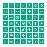 Set of 49 Universal Icons. Business, internet, web design. Set of 49 Universal Icons. Simple Flat Style. Business, internet, web design Royalty Free Stock Photos