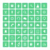 Set of 49 Universal Icons. Business, internet, web design. Set of 49 Universal Icons. Simple Flat Style. Business, internet, web design Stock Photo